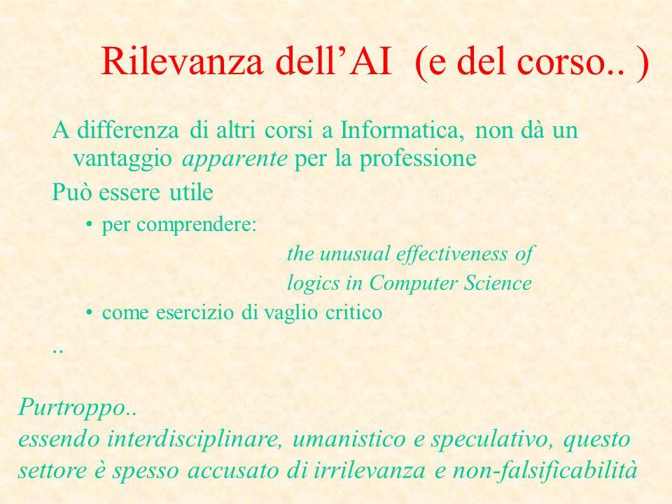 Rilevanza dellAI (e del corso..