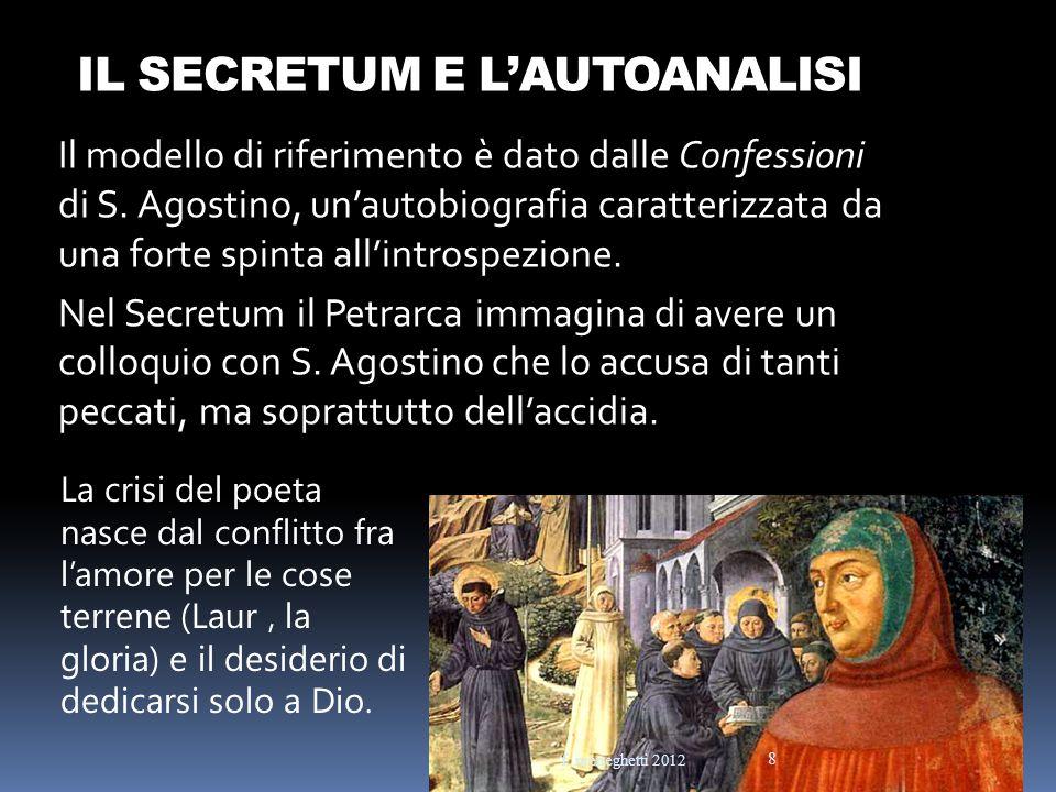 IL SECRETUM E LAUTOANALISI Il modello di riferimento è dato dalle Confessioni di S. Agostino, unautobiografia caratterizzata da una forte spinta allin