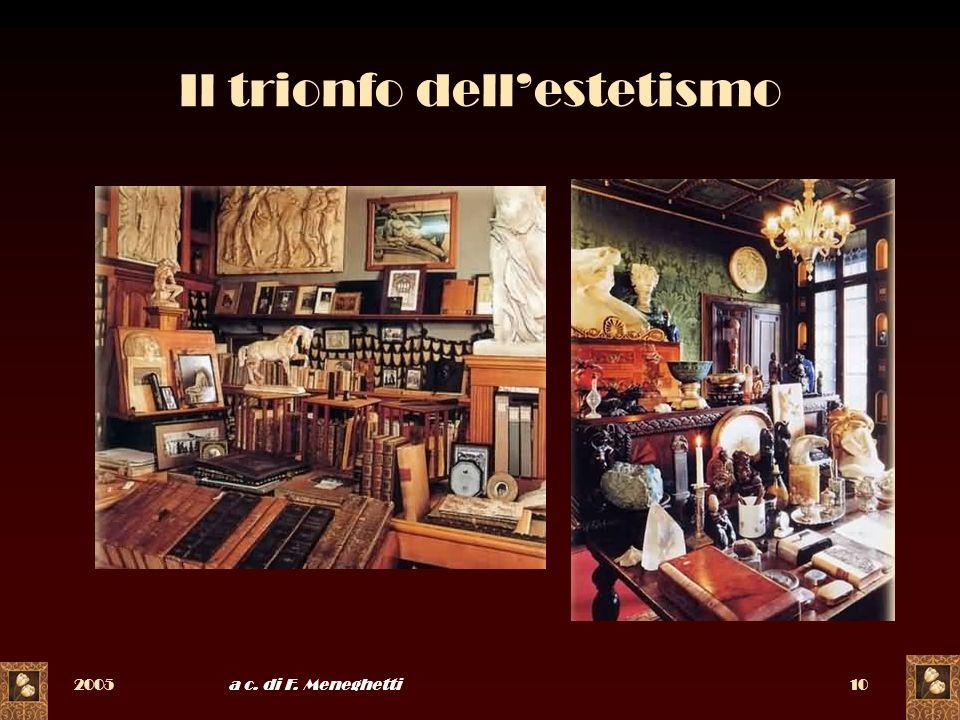 2005a c. di F. Meneghetti10 Il trionfo dellestetismo