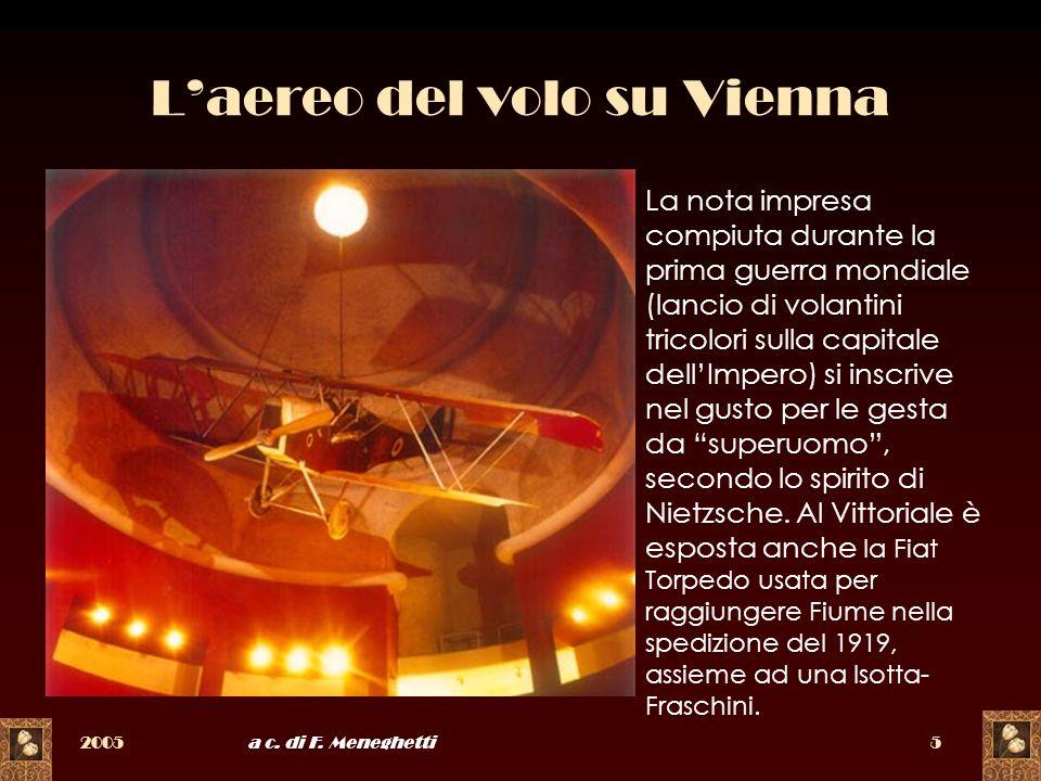 2005a c. di F. Meneghetti5 Laereo del volo su Vienna La nota impresa compiuta durante la prima guerra mondiale (lancio di volantini tricolori sulla ca