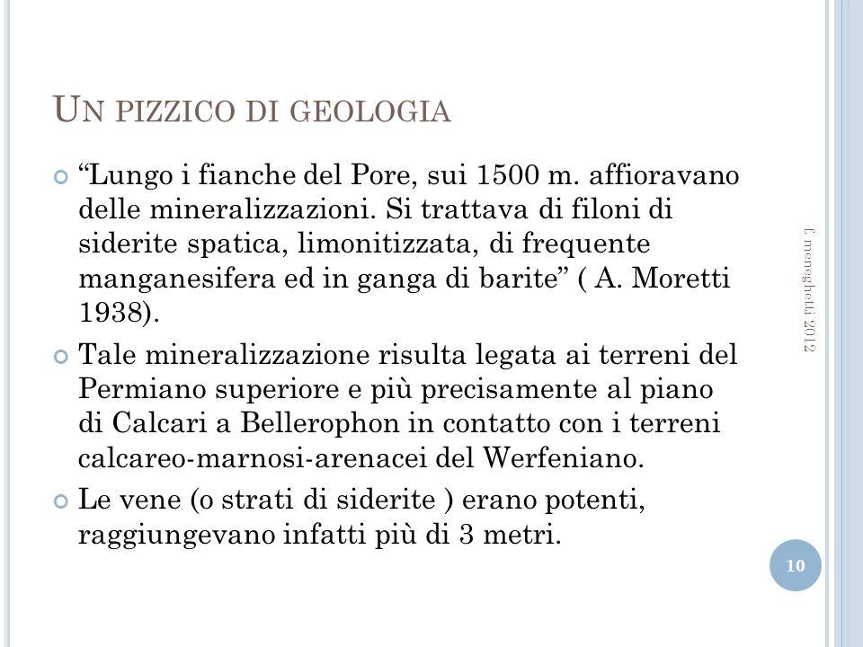 U N PIZZICO DI GEOLOGIA Lungo i fianche del Pore, sui 1500 m.