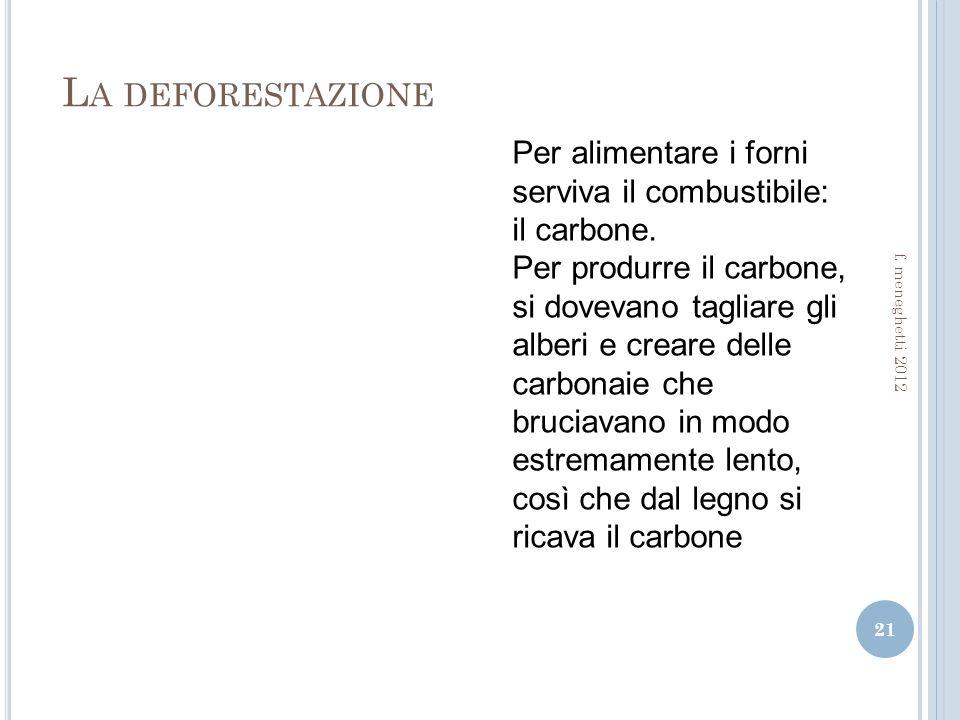 L A DEFORESTAZIONE 21 f.