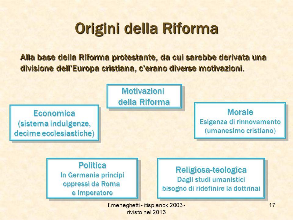 f.meneghetti - itisplanck 2003 - rivisto nel 2013 16 La frontiera interna La frontiera interna Il ritorno della sede papale a Roma nel 1377 non era st