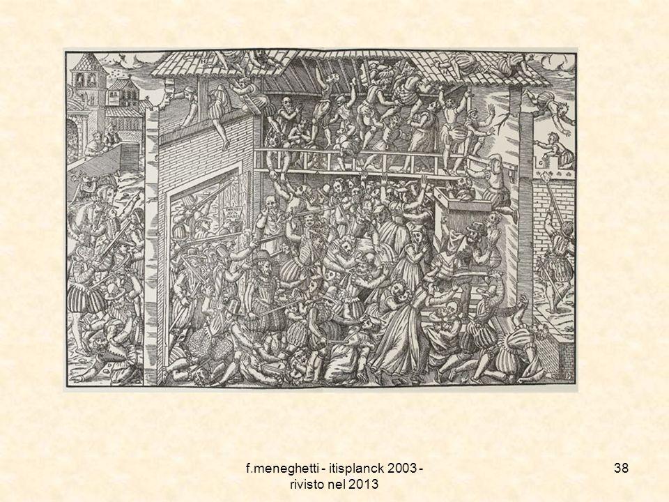 f.meneghetti - itisplanck 2003 - rivisto nel 2013 37 Guerre di religione in Francia La nuova frontiera tra cattolici e protestanti diede subito vita a