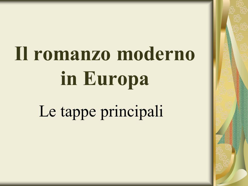 Il romanzo moderno in Europa Le tappe principali