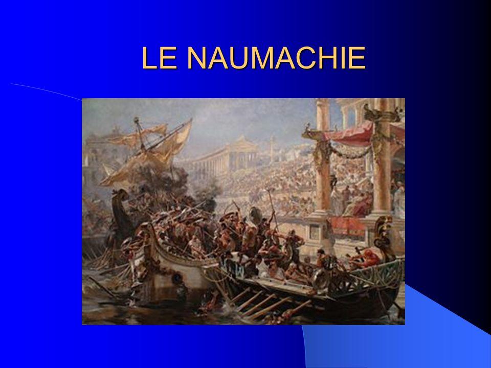 COSA SONO Le naumachie erano simulazioni di battaglie navali svolte in bacini naturali o artificiali allagati per la circostanza, dove si rievocavano famose battaglie storiche.