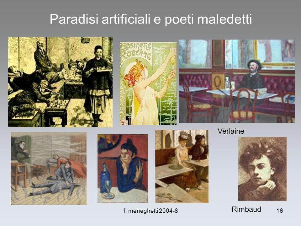 f. meneghetti 2004-816 Paradisi artificiali e poeti maledetti Rimbaud Verlaine