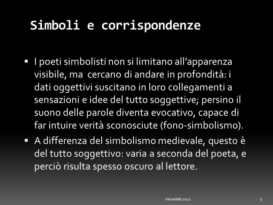 Simboli e corrispondenze I poeti simbolisti non si limitano allapparenza visibile, ma cercano di andare in profondità: i dati oggettivi suscitano in l