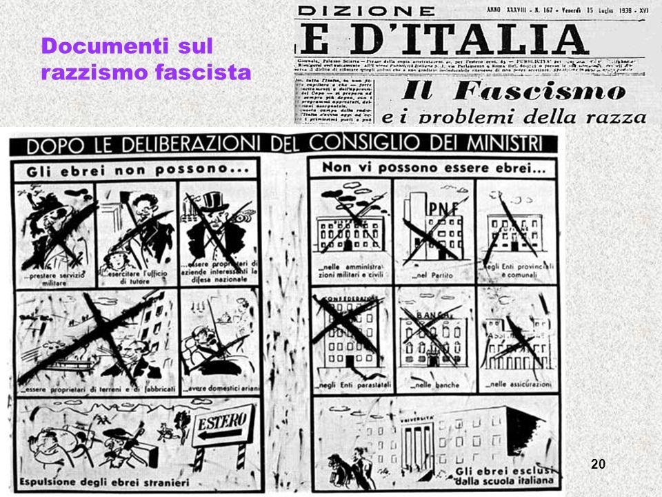 francesca meneghetti - itisplancktv -03 20 Documenti sul razzismo fascista