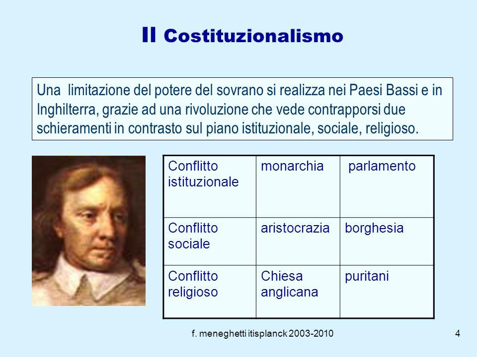f. meneghetti itisplanck 2003-20103 Lassolutismo: modello dominante nel 600 Francia e Spagna come Stati esemplari Sovrano: ab-solutus da ogni controll