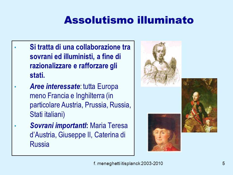 f. meneghetti itisplanck 2003-20104 Il Costituzionalismo Conflitto istituzionale monarchia parlamento Conflitto sociale aristocraziaborghesia Conflitt