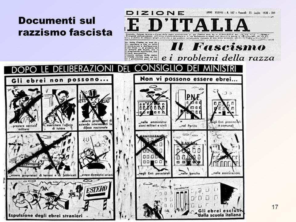 Prof. F. Meneghetti17 Documenti sul razzismo fascista