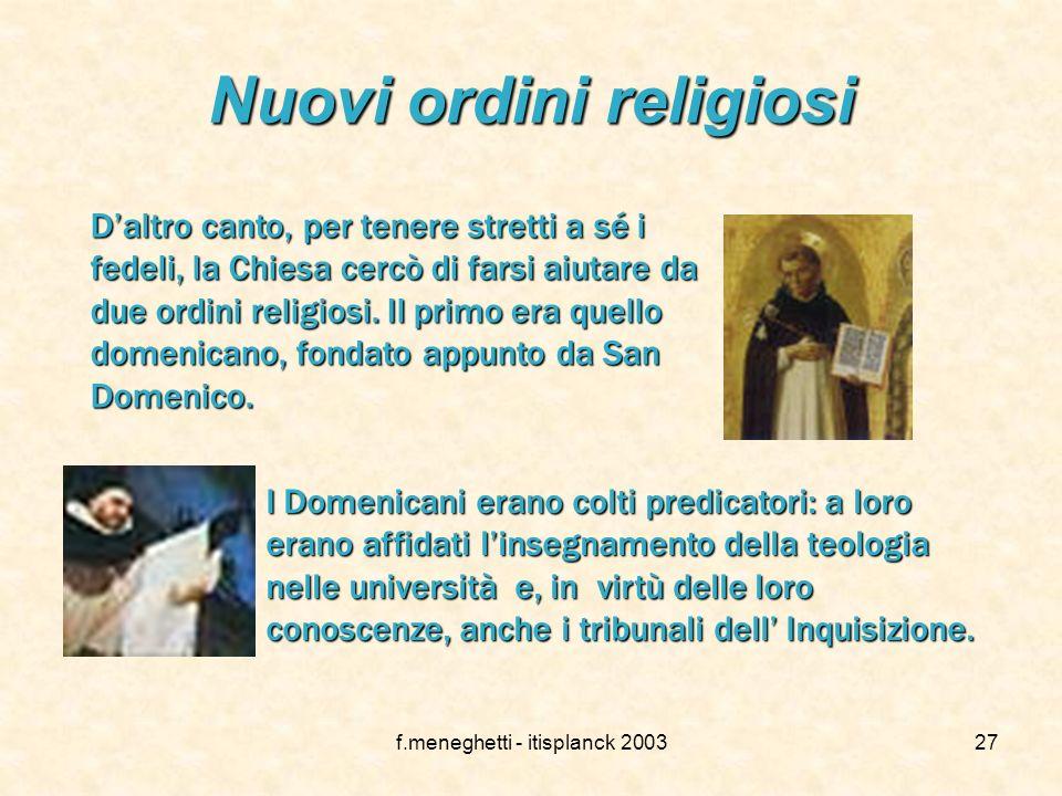 f.meneghetti - itisplanck 200326 La crociata contro gli Albigesi Inoltre Innocenzo III bandì la crociata contro gli Albigesi, ovvero i ca- tari che ri
