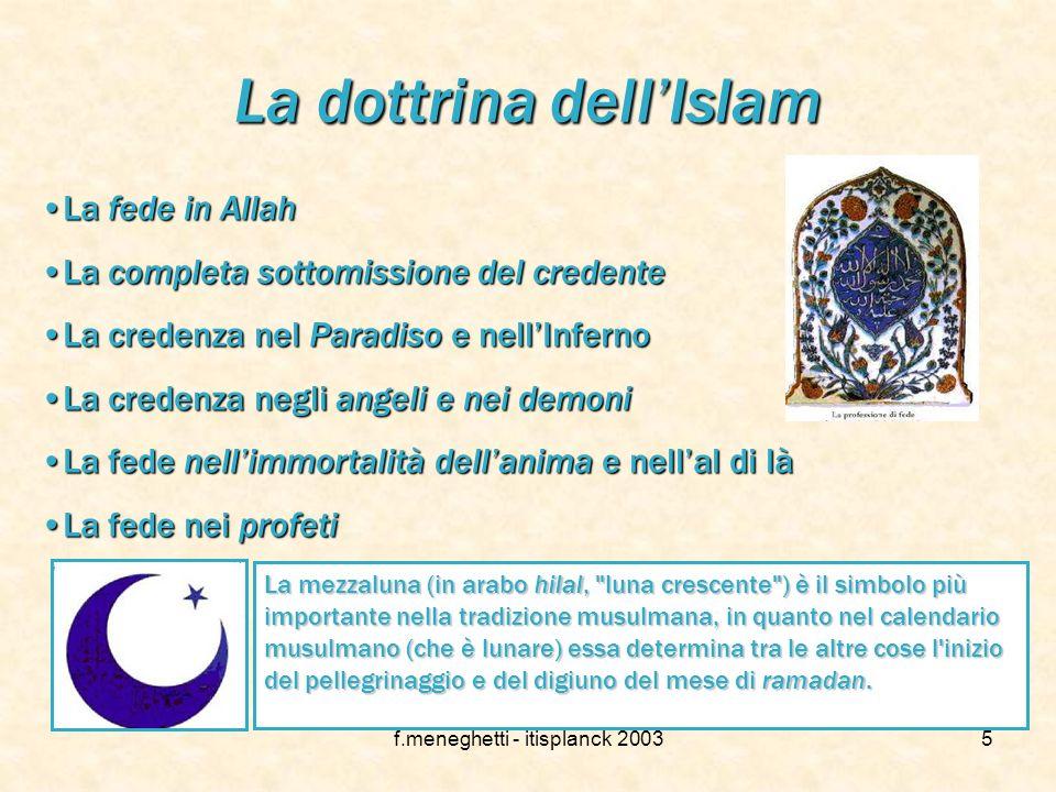 f.meneghetti - itisplanck 20034 Il libro sacro: il Corano L'Islamismo trova il suo punto di partenza in un libro ispirato direttamente da Dio: Il Cora
