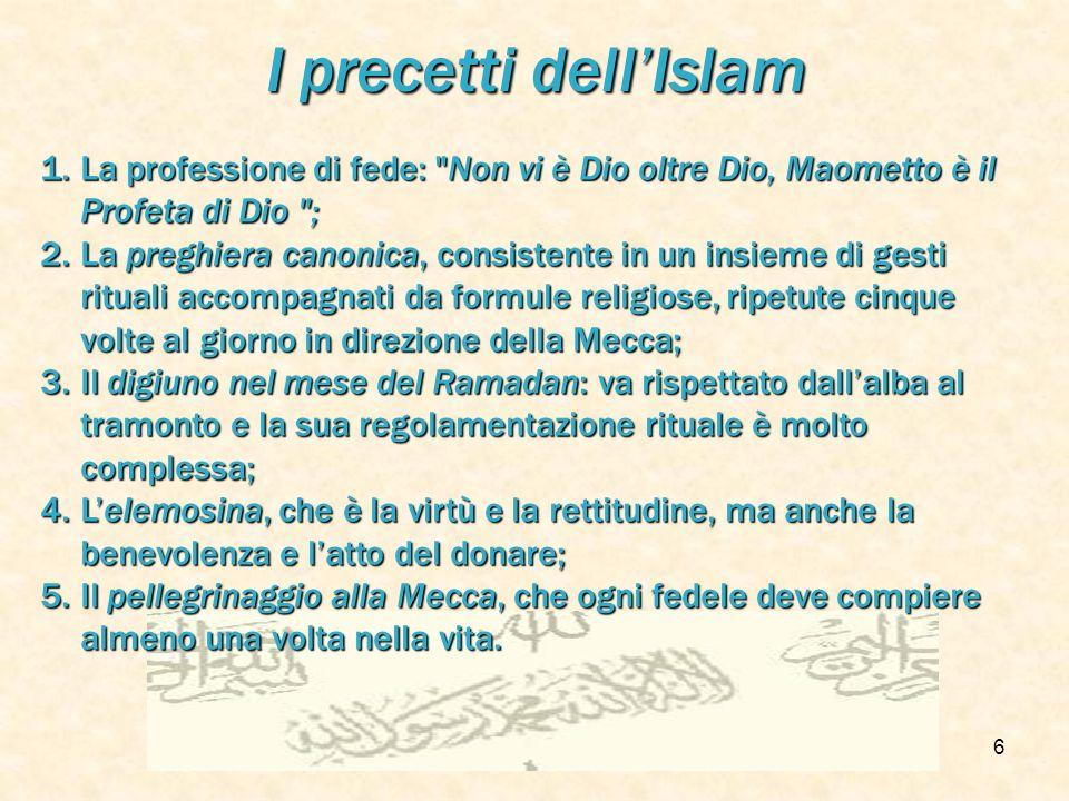 f.meneghetti - itisplanck 20035 La dottrina dellIslam La fede in AllahLa fede in Allah La completa sottomissione del credenteLa completa sottomissione