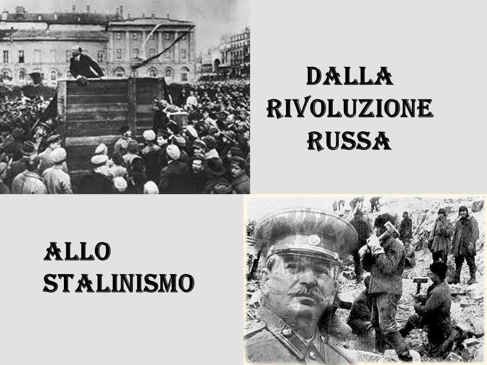 La prima anomala rivoluzione marxista Secondo Marx una rivoluzione di tipo marxista doveva avvenire in una società a capitalismo maturo.