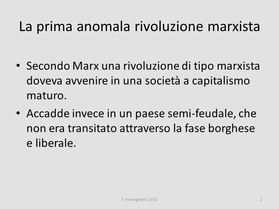 Flash-back su Marx ANALISI STORICA ED ECONOMICA (SCIENTIFICA) DEL SISTEMA CAPITALISTICO ) CRISI DI SOVRAPPRODUZIONE TEORIA DEL PLUSVALORE ( DIFFERENZA TRA LAVORO E FORZA-LAVORO TEORIA DEL PLUSVALORE ( DIFFERENZA TRA LAVORO E FORZA-LAVORO CONCORRENZA ANARCHICA DEI CAPITALISTI NECESSITA DELLA LOTTA DI CLASSE E DELLORGANIZZAZIONE NECESSITA STORICA DI UNA RIVOLUZIONE DA CUI SORGERA UNA SOCIETA SENZA CLASSI (SENZA STATO) DI UOMINI EGUALI.
