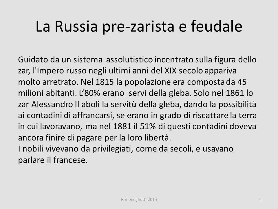 Industrializzazione tardiva e populismo La Russia fu anche uno dei paesi europei a industrializzarsi e ciò avvenne grazie a investimenti stranieri, soprattutto francesi.