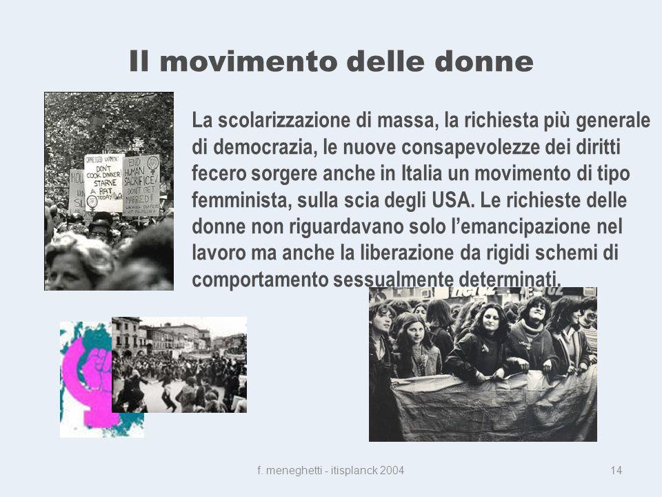 Il movimento delle donne f.