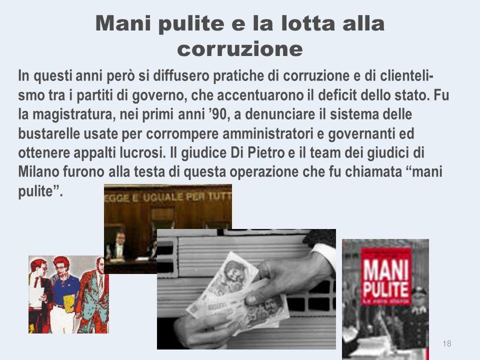 Mani pulite e la lotta alla corruzione f.
