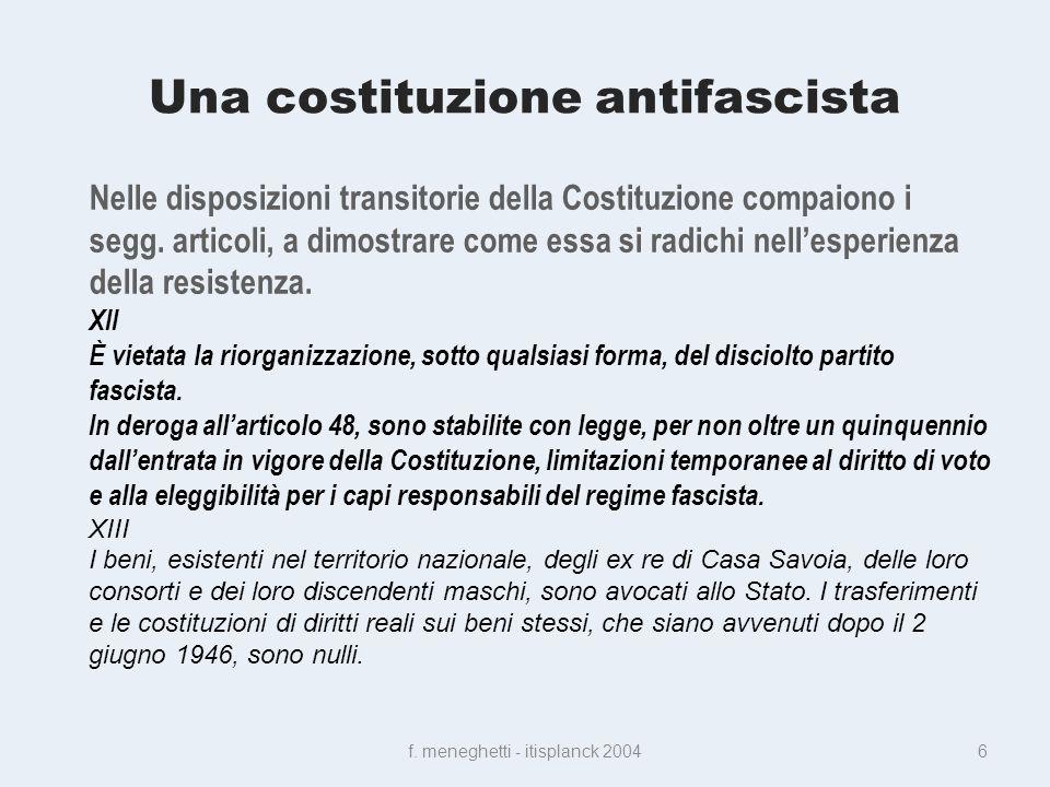 Una costituzione antifascista f.