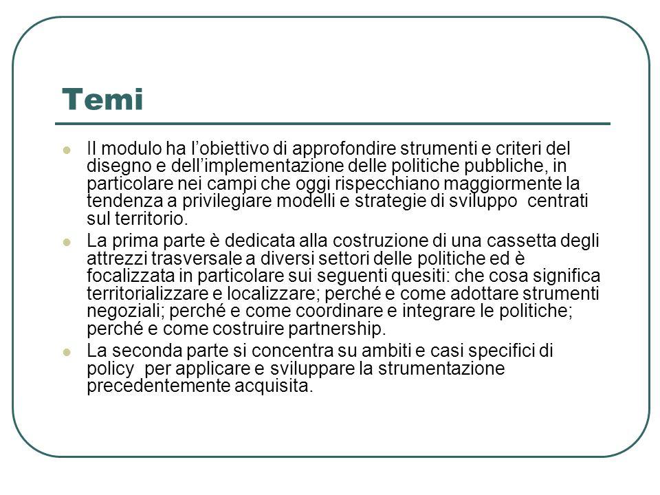 Riepilogo Politica e politiche.Modello razionalistico (sinottico e a priori).