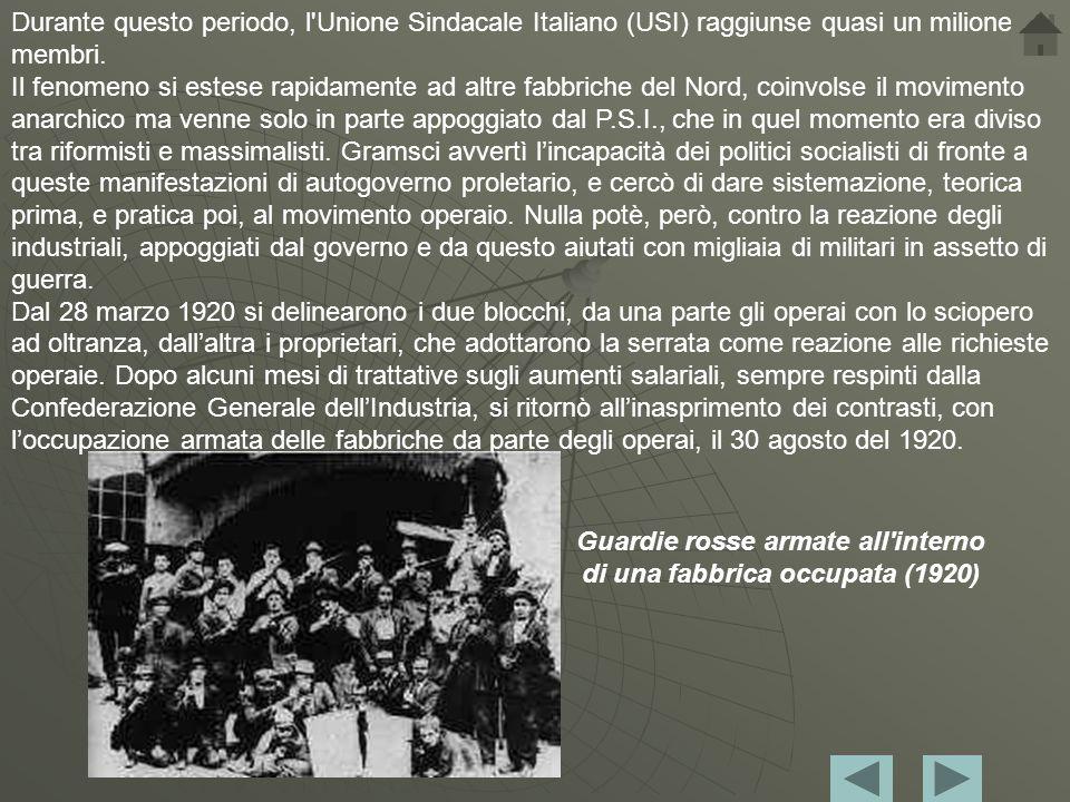 Come iniziò il biennio La storia del Biennio Rosso iniziò a Torino il 13 settembre 1919 con la pubblicazione sulla rivista Ordine Nuovo del manifesto Ai commissari di reparto delle officine Fiat Centro e Brevetti, nel quale si ufficializzava lesistenza e il ruolo dei Consigli di fabbrica quali nuclei di gestione autonoma delle industrie da parte degli operai.