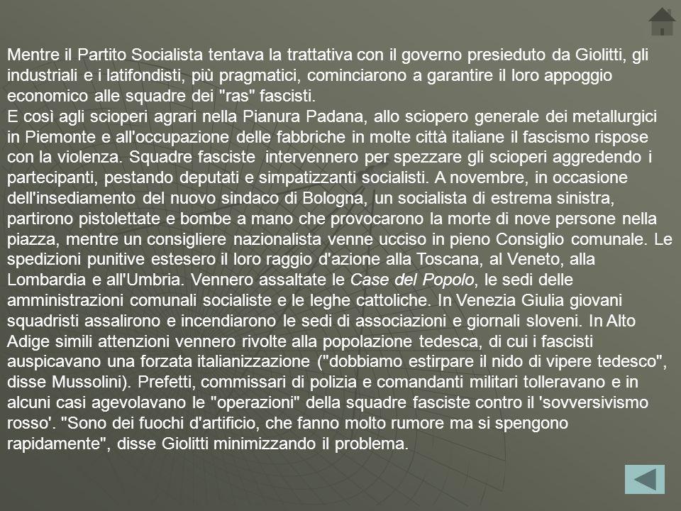 Durante questo periodo, l Unione Sindacale Italiano (USI) raggiunse quasi un milione di membri.