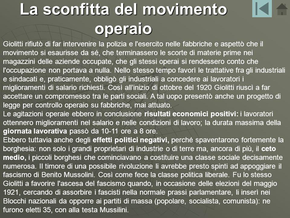 Mentre il Partito Socialista tentava la trattativa con il governo presieduto da Giolitti, gli industriali e i latifondisti, più pragmatici, cominciaro