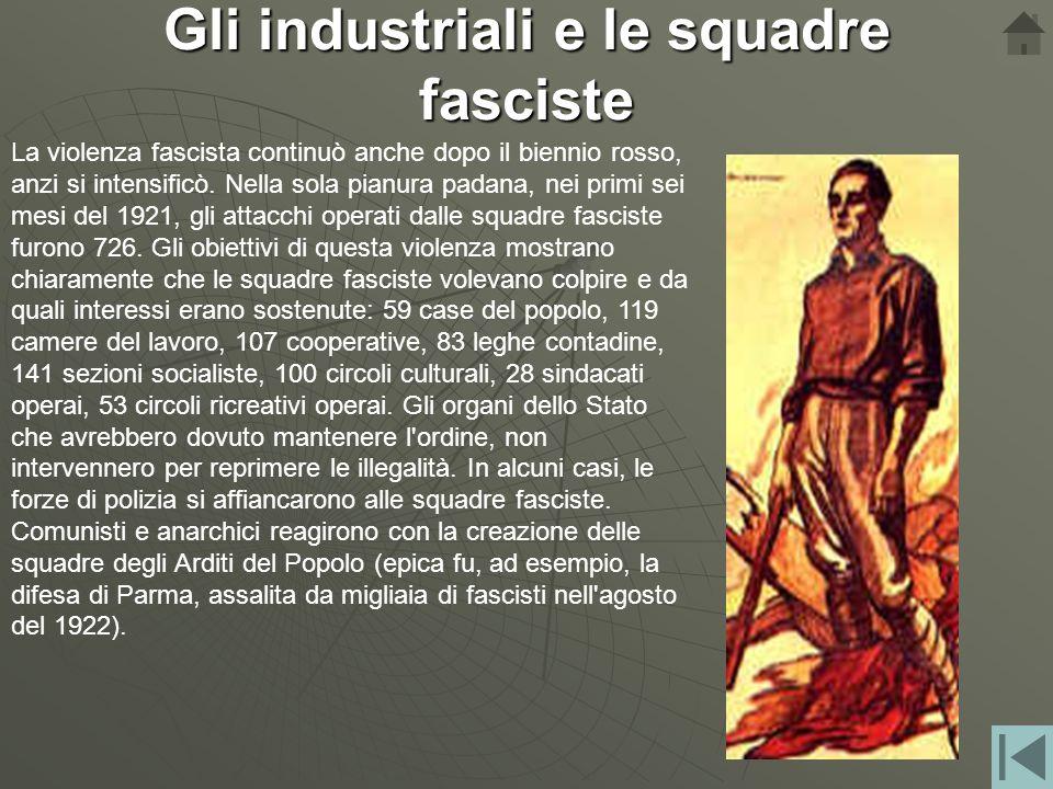 La sconfitta del movimento operaio Giolitti rifiutò di far intervenire la polizia e l'esercito nelle fabbriche e aspettò che il movimento si esaurisse
