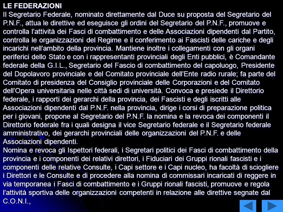 Struttura del partito fascista Lordinamento nazionale Il Partito Nazionale Fascista è costituito, su base nazionale, da due organi centrali: Il Dirett