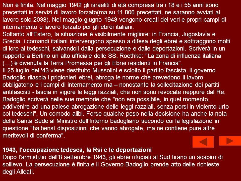 Nel 1939, Dante Almansi, presidente dellUnione delle comunità ebraiche italiane, è autorizzato dal governo a creare unorganizzazione per assistere i r