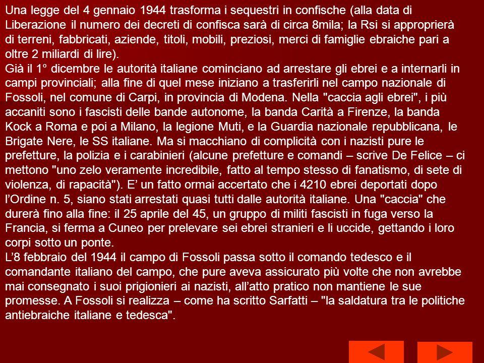 Larticolo 31 del cosiddetto armistizio lungo è chiaro al riguardo: Tutte le leggi italiane che implicano discriminazioni di razza, colore, fede od opinioni politiche saranno, se questo non sia già stato fatto, abrogate .