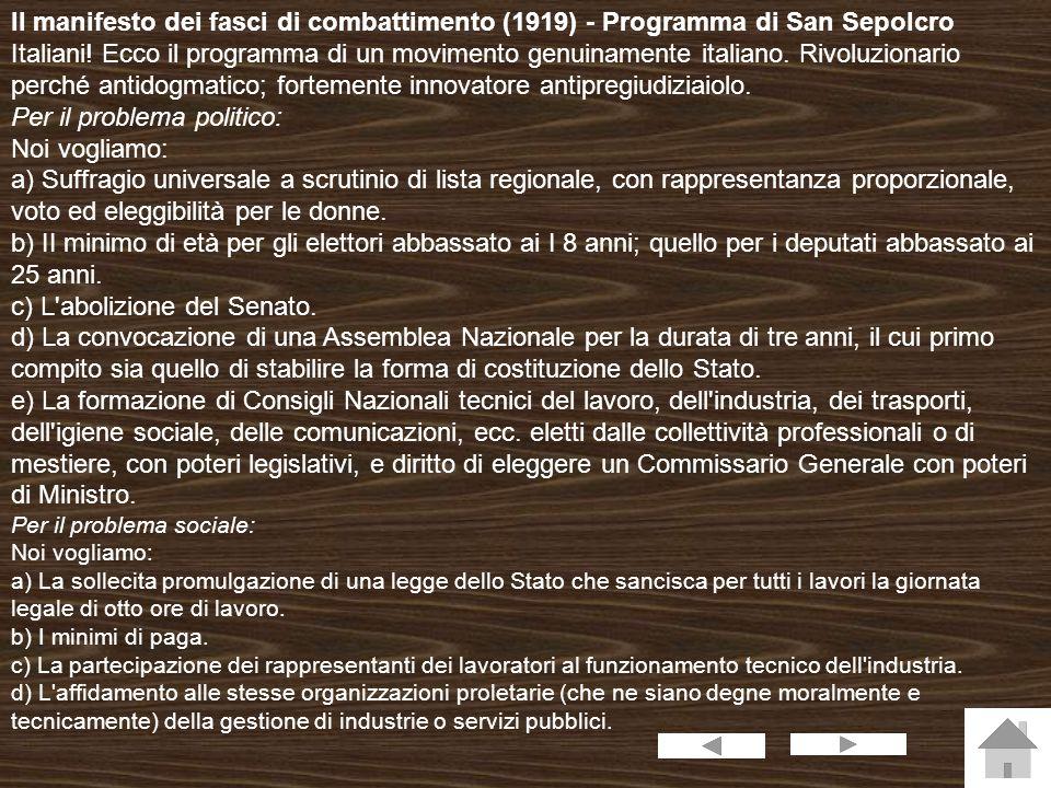 Nascita del fascismo Mussolini giovane Lo scoppio della prima guerra mondiale provocò un radicale cambiamento di posizioni politiche in Benito Mussolini, fino ad allora dirigente socialista e, dal 1912, addirittura direttore de l Avanti!.