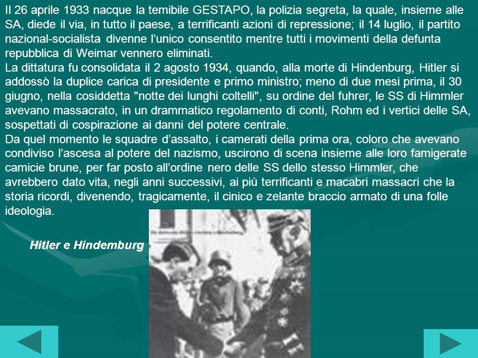 La dittatura nazista Il paradosso del nazional-socialismo, di unideologia che fece della violenza e della brutalità, gli strumenti stessi per realizza