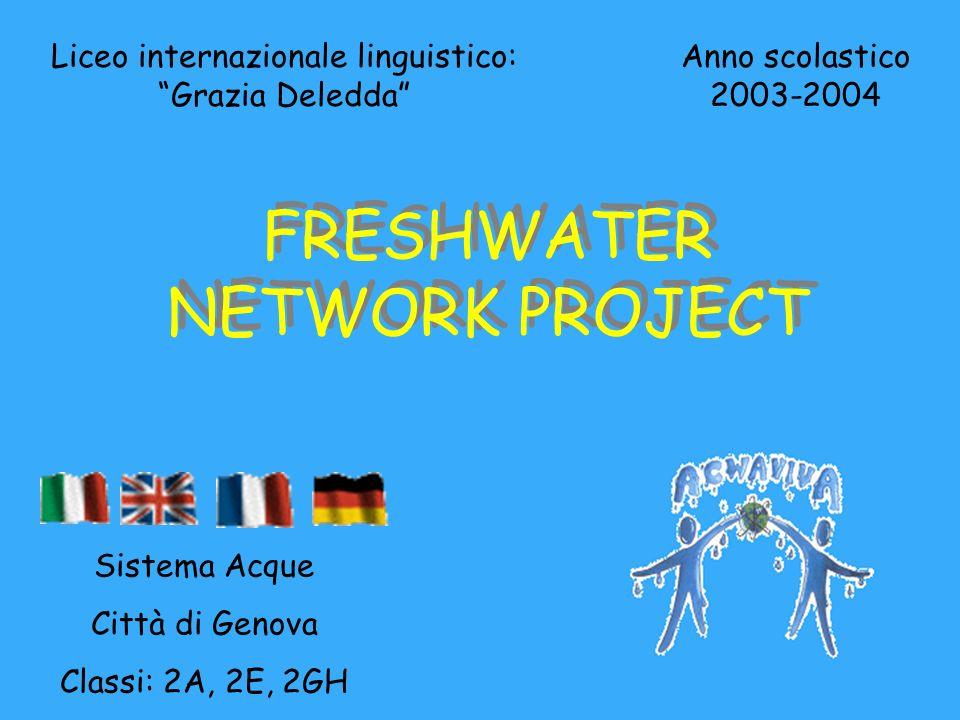 Liceo internazionale linguistico: Grazia Deledda Anno scolastico 2003-2004 FRESHWATER NETWORK PROJECT Sistema Acque Città di Genova Classi: 2A, 2E, 2GH