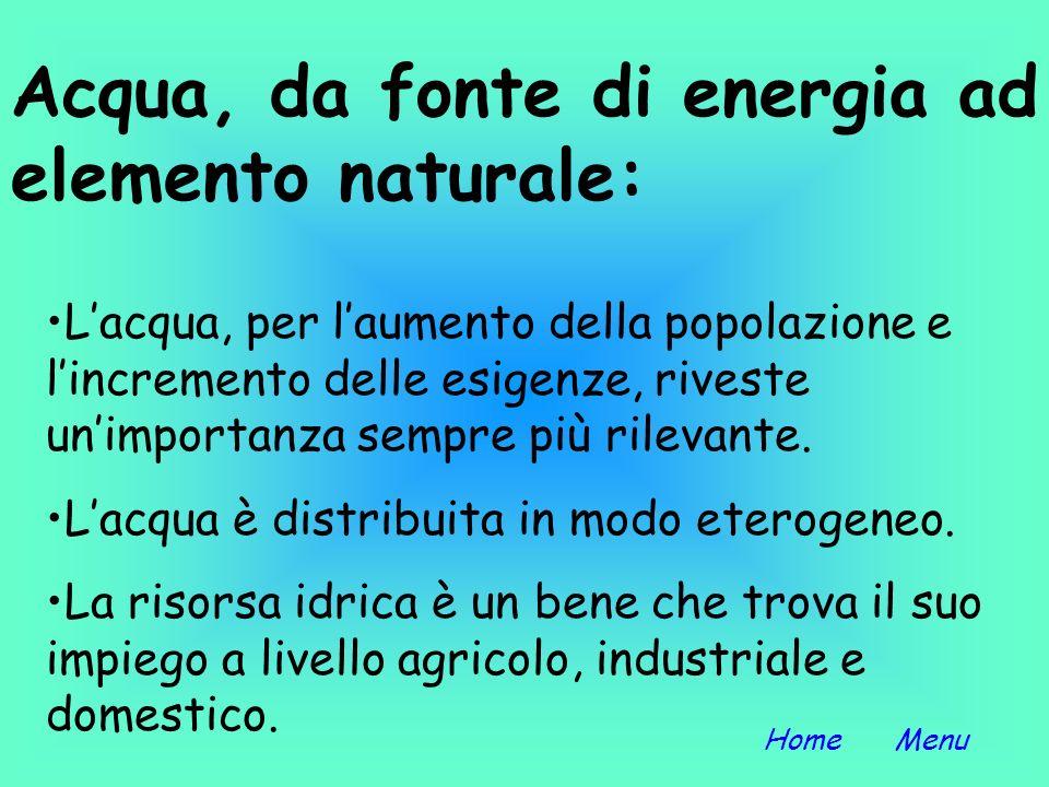 Introduzione Energia idroelettrica Acquedotti e tecniche di potabilizzazione Impianti di depurazione di Punta Vagno Foto Si ringrazia il Signor Luigi