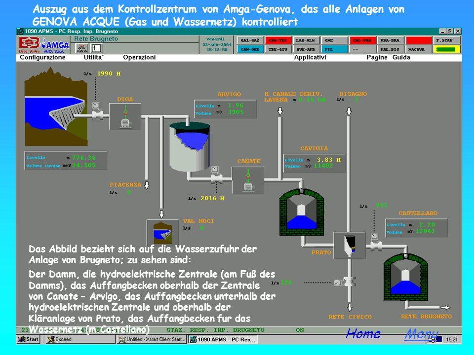 Brugneto Stausee Der Brugneto Stausee kann etwa 25.000 Kubikmeter Wasser fassen und liegt 775 Meter über dem Meeresspiegel MenuHome