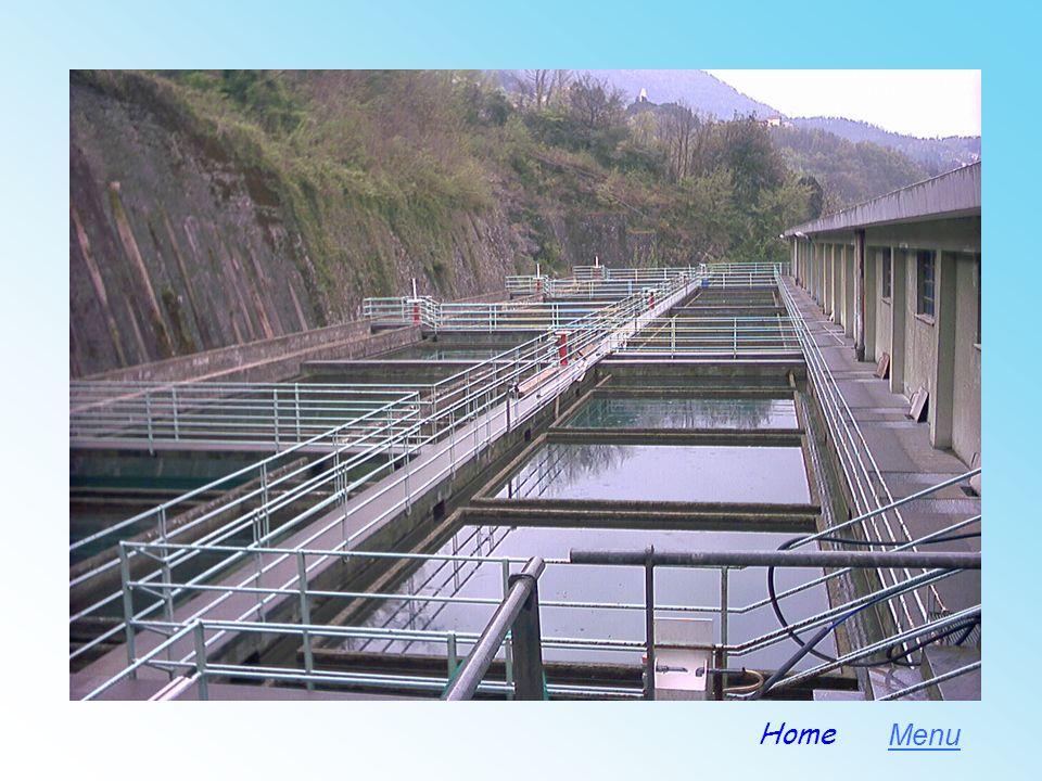 Dekantationsbecken des städtischen Wasserwerkes bei Prato, in welchem das Wasser des Stausees von Brugneto und des Flusses Bisagno behandeldt wird. Me