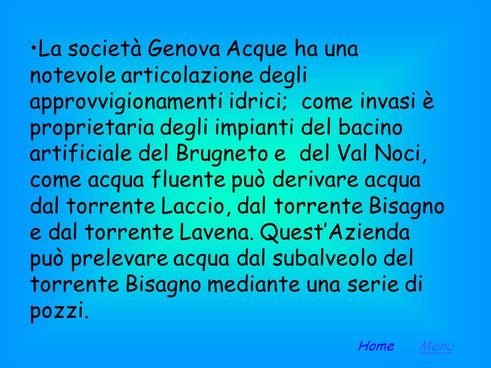 Acquedotti a Genova La città di Genova, dal punto di vista dellapprovvigionamento idrico, gode di una buona situazione, che è tuttora in evoluzione: (