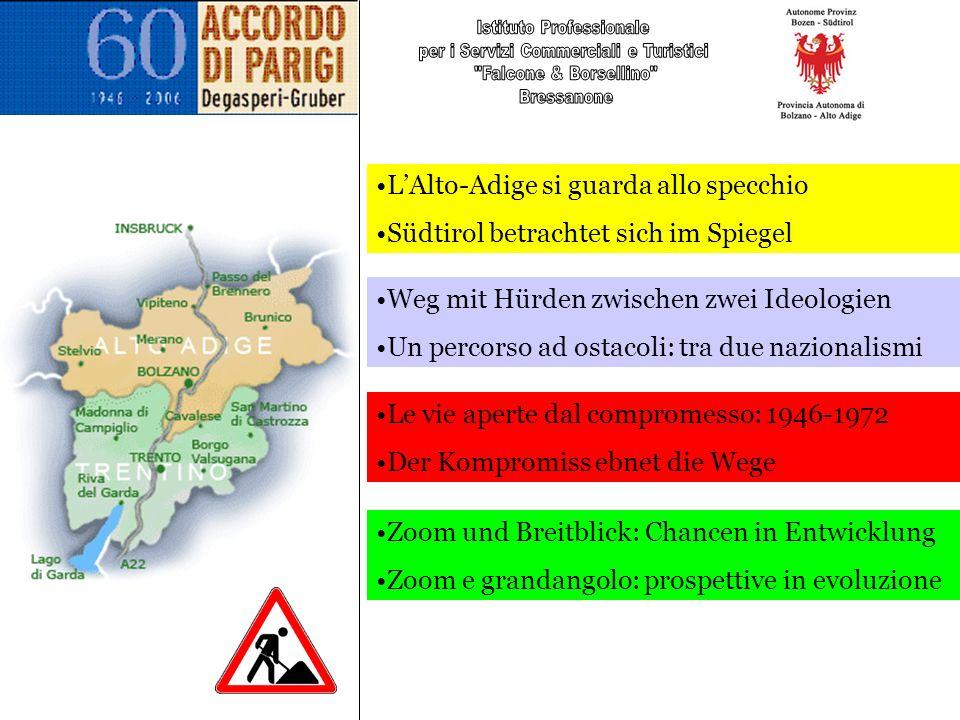 …neue Chancen… Forte del proprio cammino anche lAlto Adige oggi è in grado di suggerire percorsi verso laffermazione dei diritti delle minoranze ed altre complesse realtà, vicine e lontane.