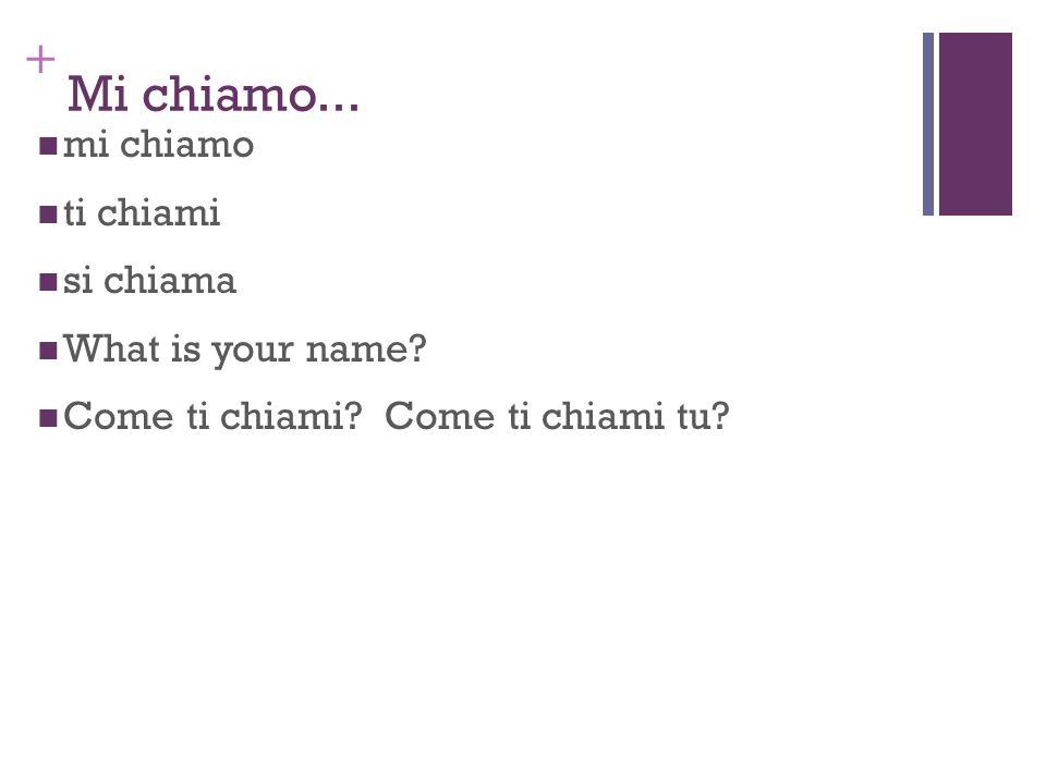 + Lucia: Come si chiama lamica di Marcello ?
