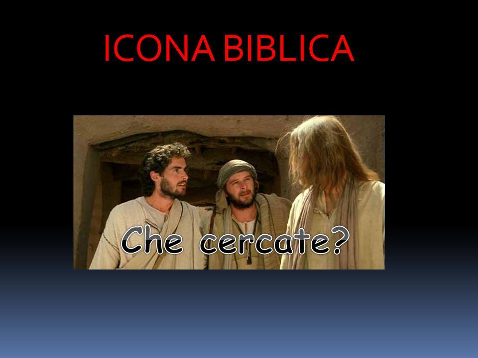 Gv 1,38 : Gesù allora si voltò e, vedendo che lo seguivano, disse: Che cercate? .