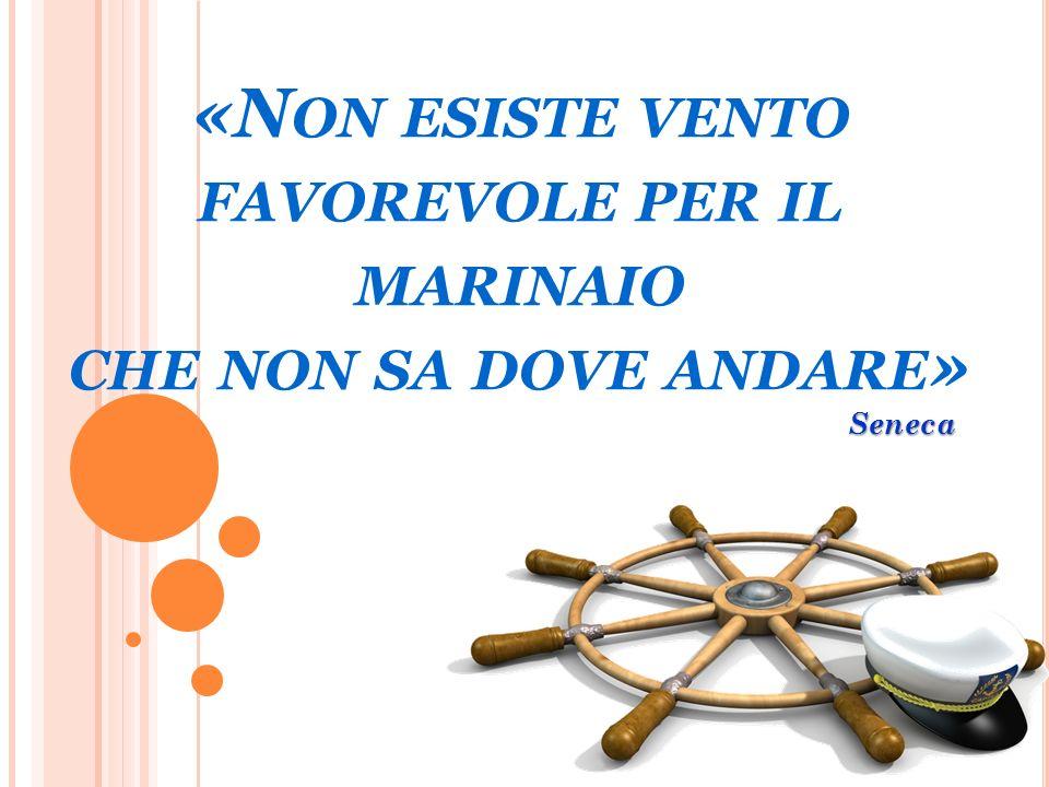 «N ON ESISTE VENTO FAVOREVOLE PER IL MARINAIO CHE NON SA DOVE ANDARE » Seneca