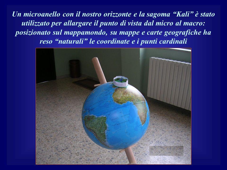 Un microanello con il nostro orizzonte e la sagoma Kali è stato utilizzato per allargare il punto di vista dal micro al macro: posizionato sul mappamo