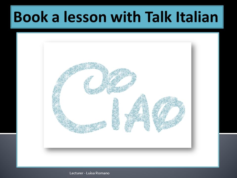 Lecturer - Luisa Romano Book a lesson with Talk Italian