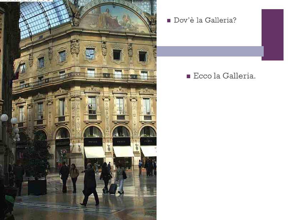 + Ecco la Galleria. Dovè la Galleria?