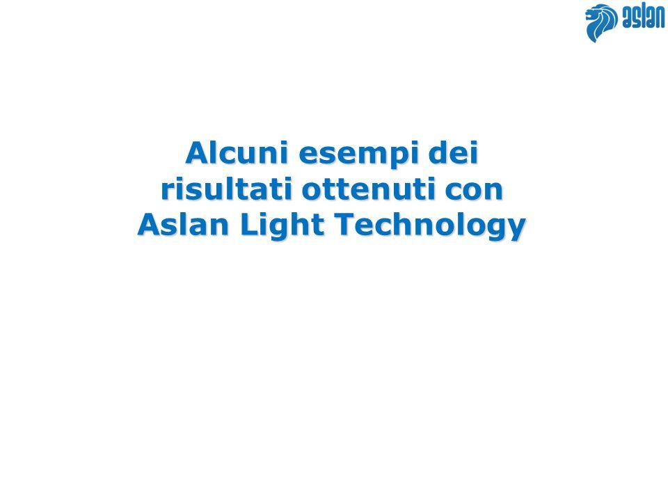 Alcuni esempi dei risultati ottenuti con Aslan Light Technology