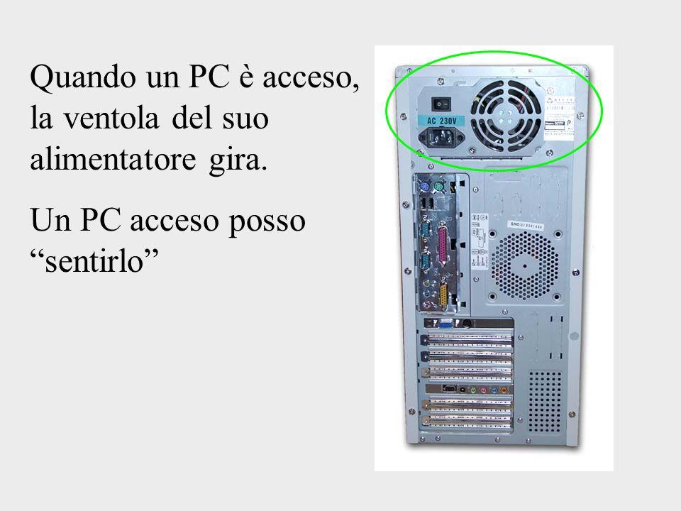Quando un PC è acceso, la ventola del suo alimentatore gira. Un PC acceso posso sentirlo