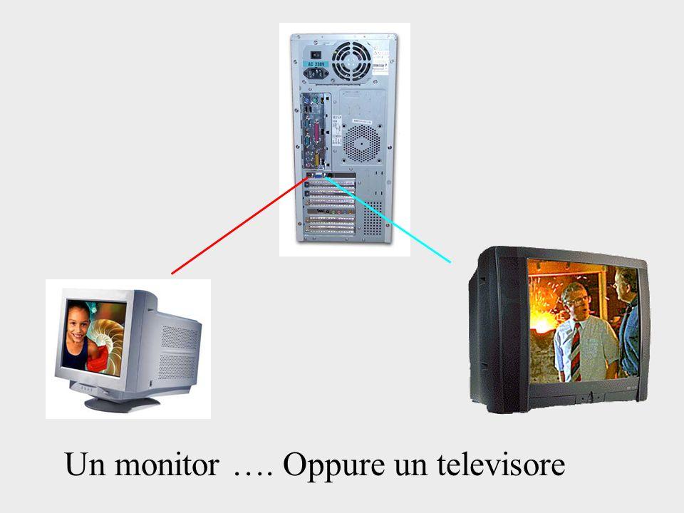 Un monitor …. Oppure un televisore